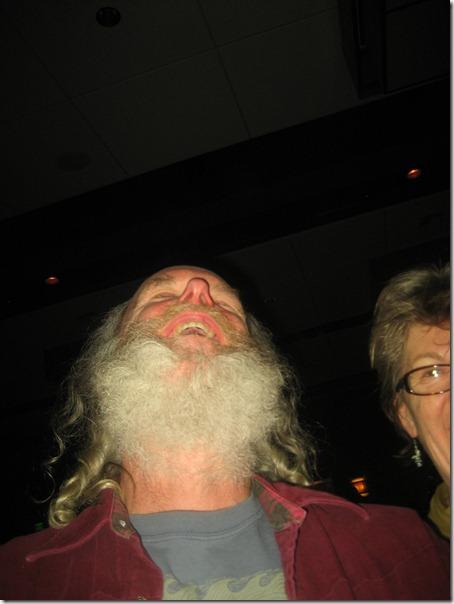 a hearty beard from below